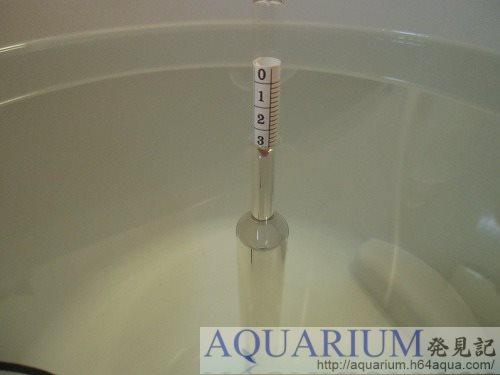 ボーメ計で海水測定